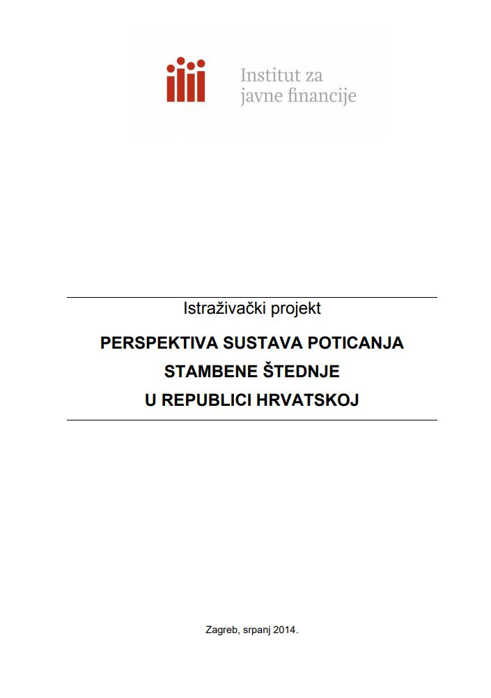 prikaz prve stranice dokumenta Perspektiva sustava poticanja stambene štednje u Republici Hrvatskoj
