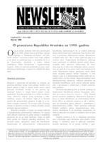O proračunu Republike Hrvatske za 1999. godinu