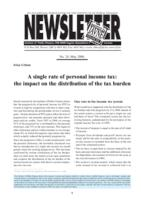 A single rate of personal income tax: the impact on the distribution of the tax burden
